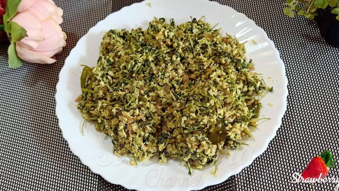 Green Gram Microgreens Stir Fry | Thoran | Poriel