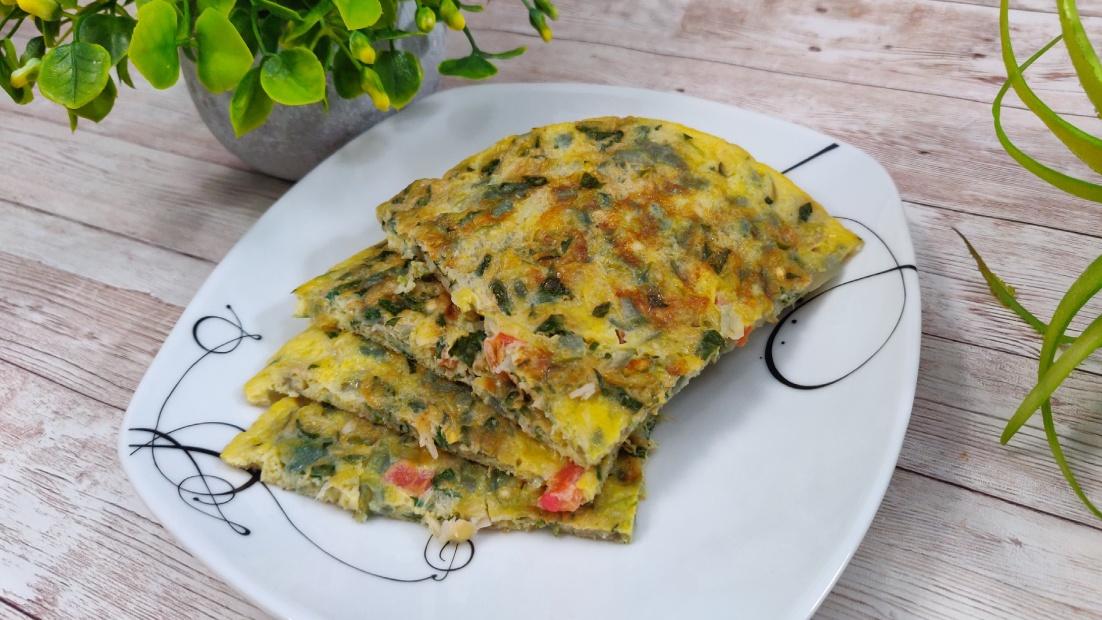 microgreens omelet