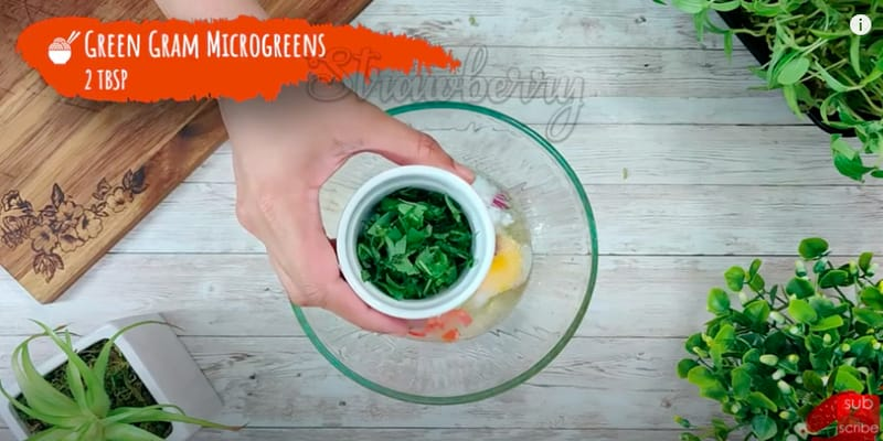 microgreens omelet recipe