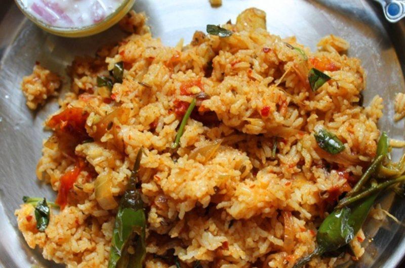 Tomato Rice Recipe | Thakali Rice