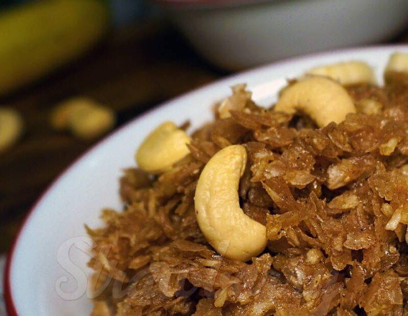 Aval Nanachathu | Sweetened Beaten Rice Flakes