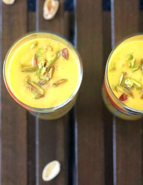 mango butterscotch shake