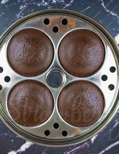 Chocolate Steam Cake in Idli Tray