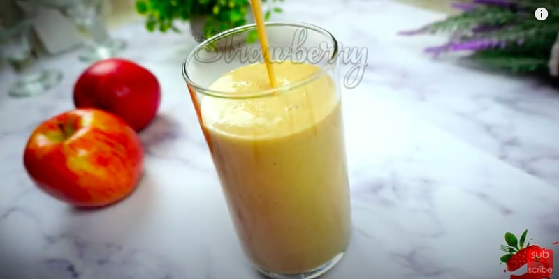 apple oats smoothie