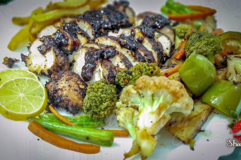 Chicken Steak Recipe | Grill Chicken with Veggies
