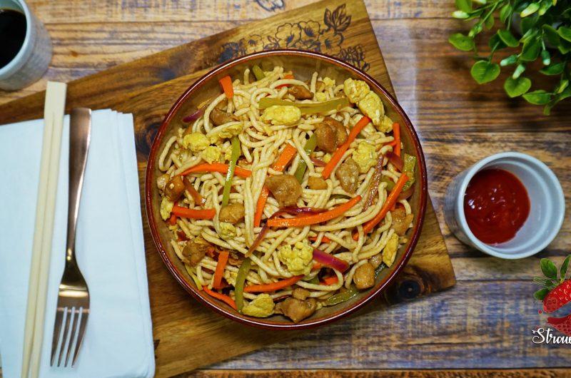 Chicken Wheat Noodles Recipe
