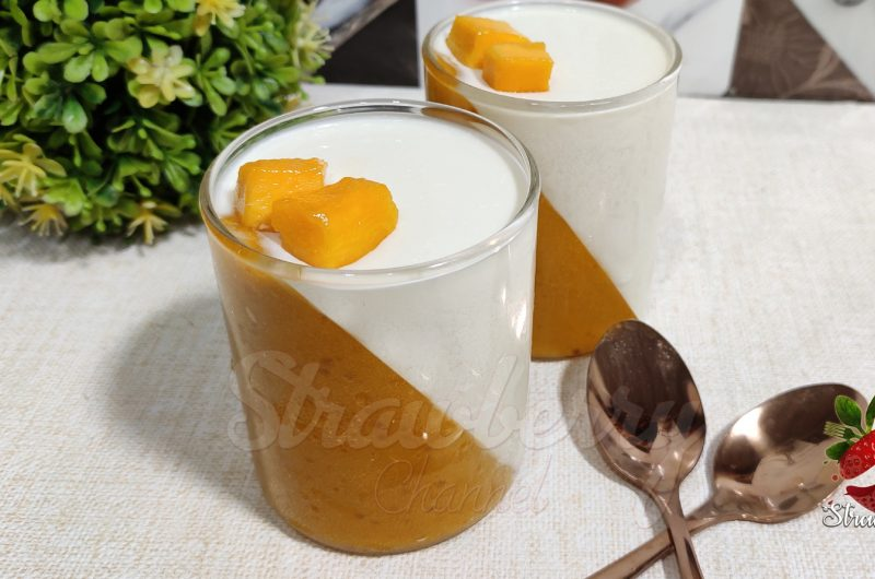 Mango Panna Cotta Recipe | Mango Pudding
