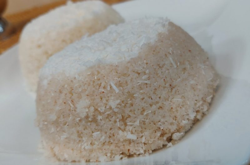 Puttu with Homemade Red Rice Flour