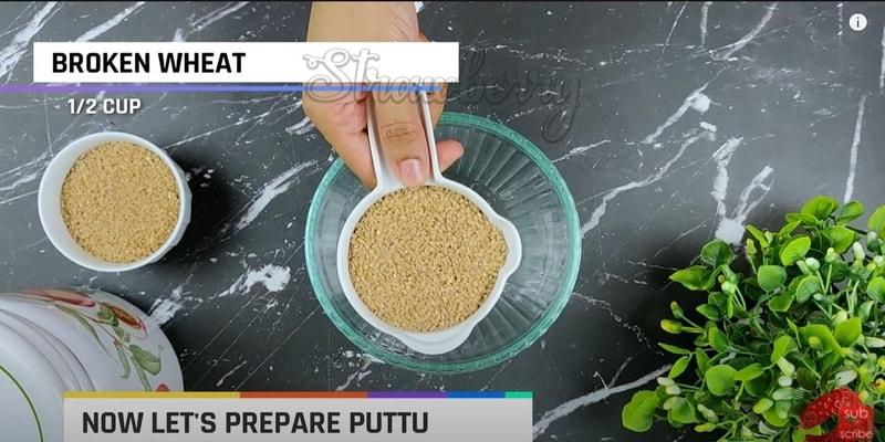 Broken Wheat Puttu