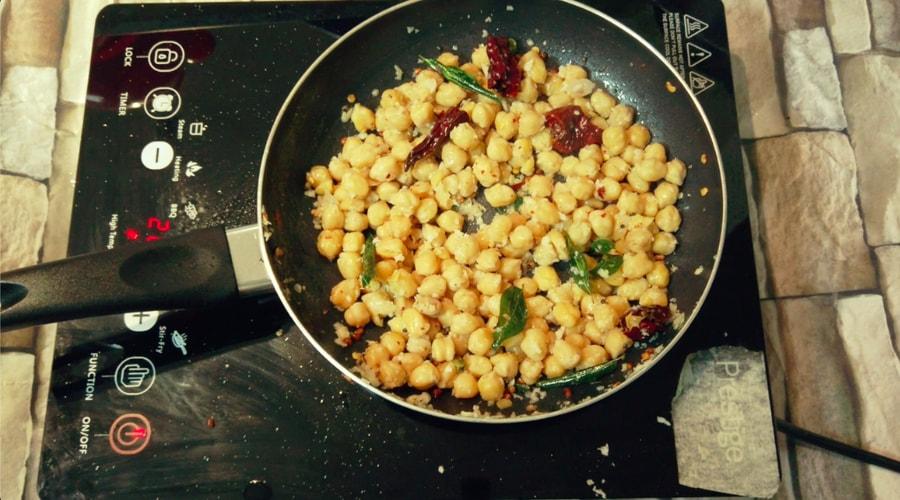 Chickpea or Channa Sundal