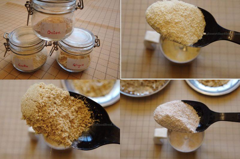 Ginger, Onion, Garlic Powder