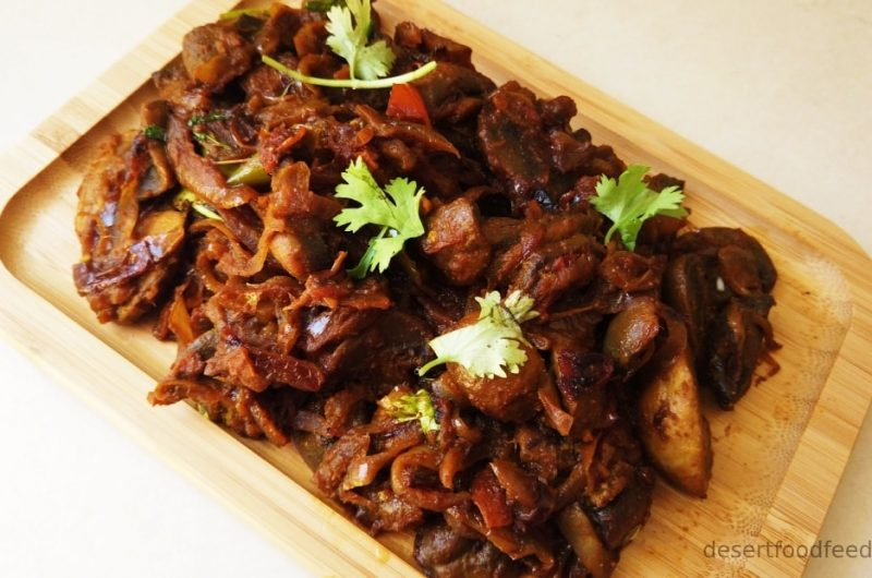 Spicy Kadai Mushroom Masala