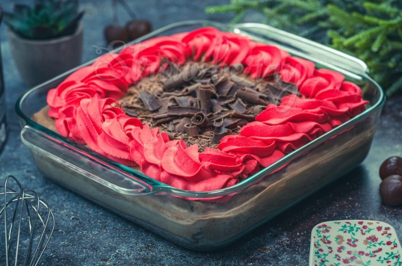 Eggless Chocolate Tres Leches Cake
