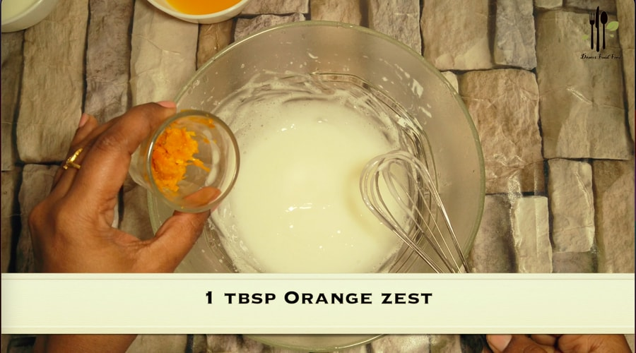 Eggless Orange Drip Cake