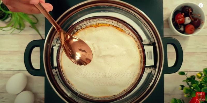 snow pudding egg white
