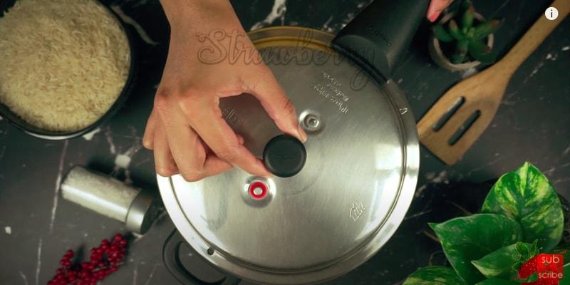 Basmati Rice in pressure Cooker.