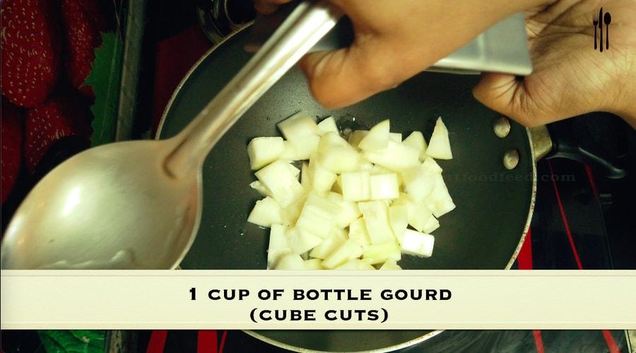 Bottle Gourd Sabzi Sorakkai Poriyal