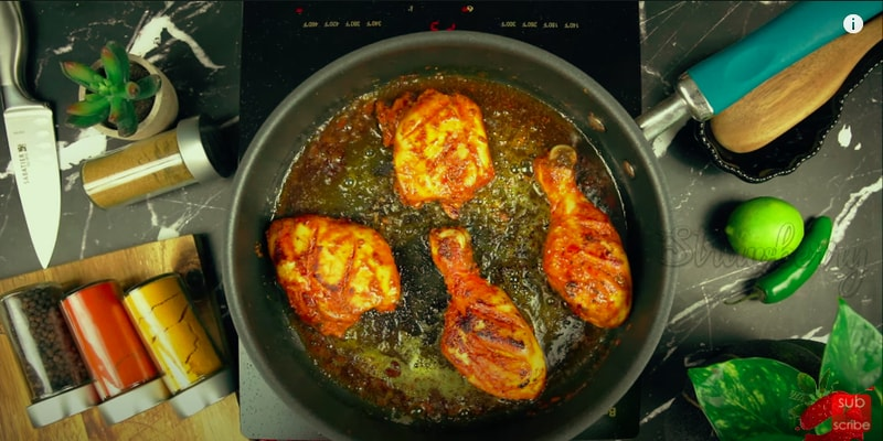 Tandoori Chicken With Mint Chutney