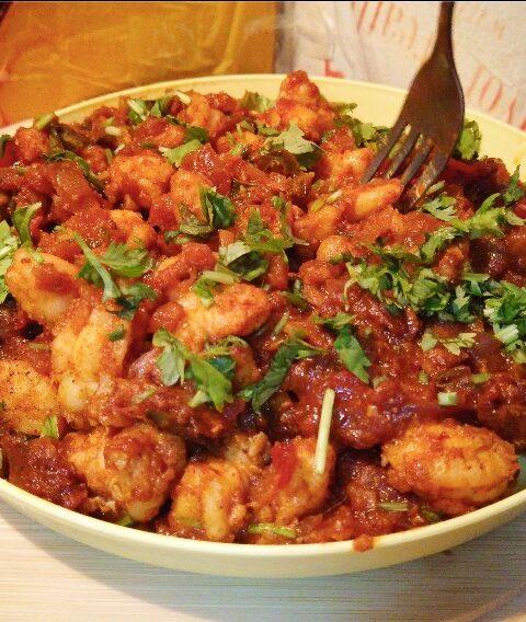 Spicy Prawns Tawa Masala