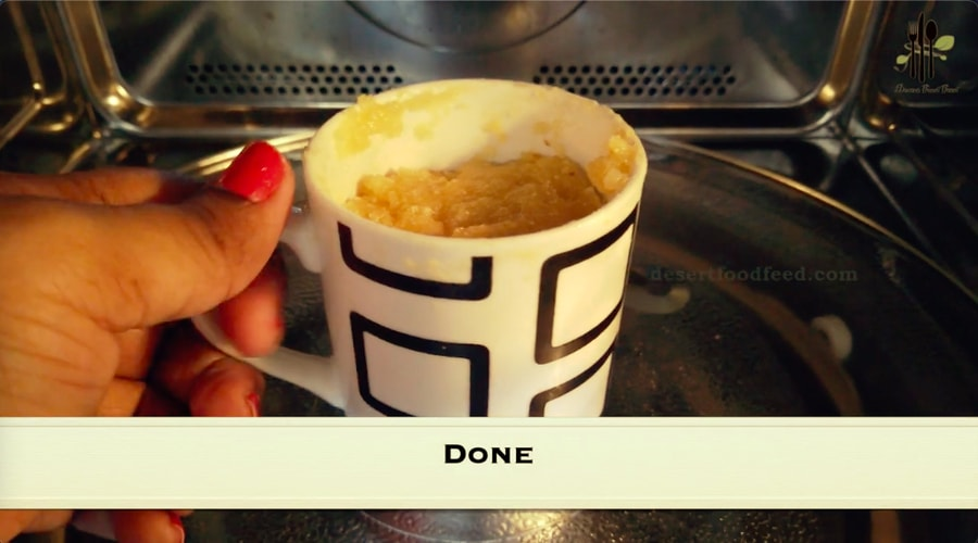 Two Minute Mango Semolina Mug Cake