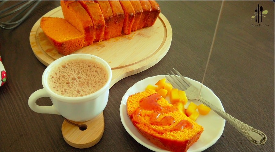 Mango Ice Cream Tea Cake